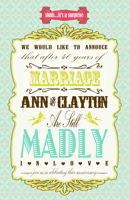 40Th Wedding Anniversary Invitations for best invitation template